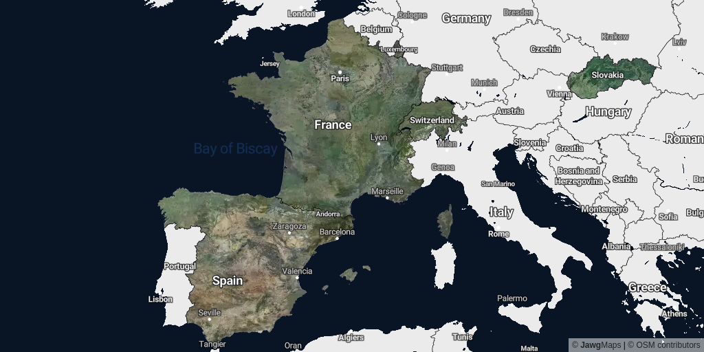 Satellite coverage of August 2021