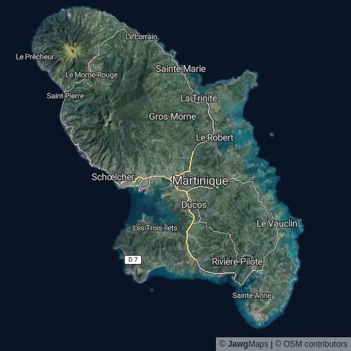 La Martinique, Caribbean Sea